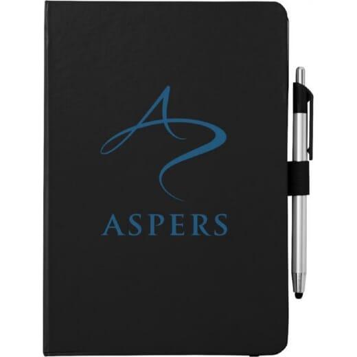 Notebook A5 e penna a sfera con pennino CROWN - 1