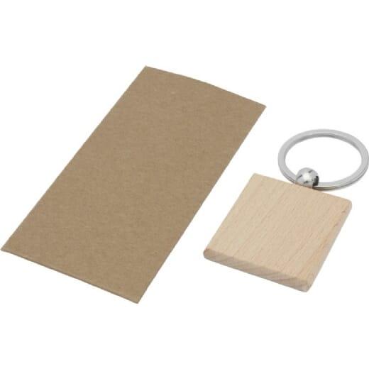Portachiavi quadrato in legno di faggio GIOIA - 3
