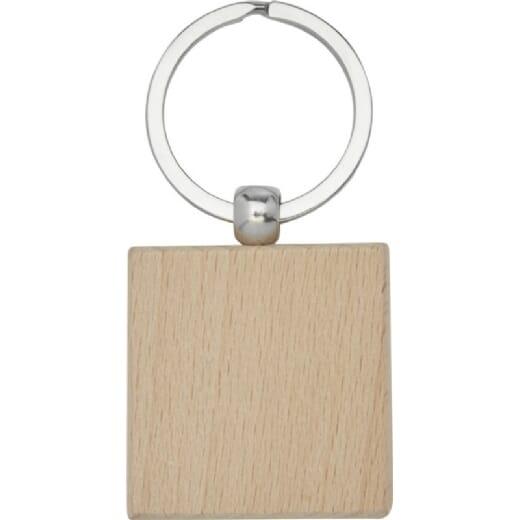 Portachiavi quadrato in legno di faggio GIOIA - 2