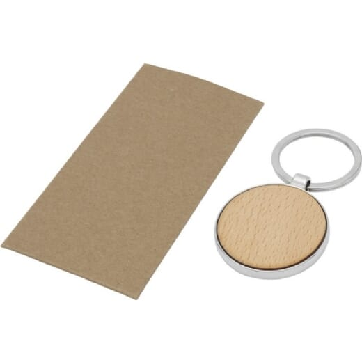 Portachiavi rotondo in legno di faggio MORENO - 3