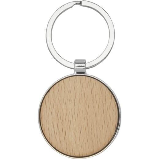 Portachiavi rotondo in legno di faggio MORENO - 2