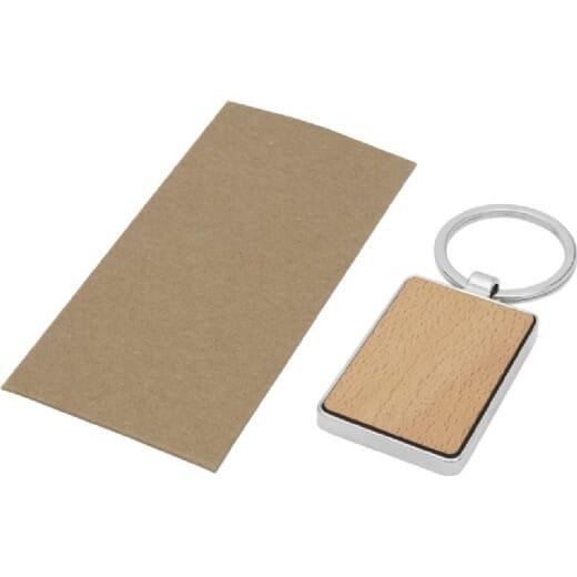 Portachiavi rettangolare in legno di faggio MAURO - 3