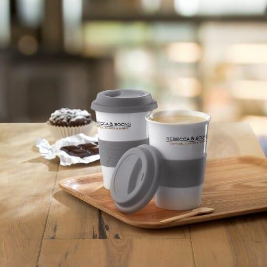 Tazza in ceramica e silicone TRIBECA - 400 ml - 5