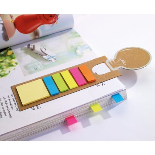 Segnalibro con riga e adesivi  IDEA - 1