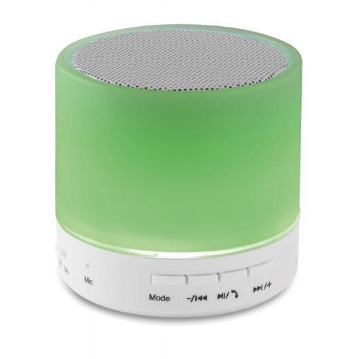 Speaker Bluetooth con LED  ROUND WHITE - 3