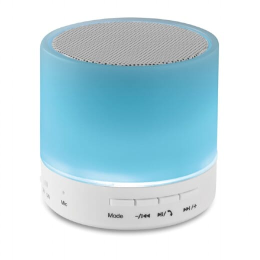Speaker Bluetooth con LED  ROUND WHITE - 4