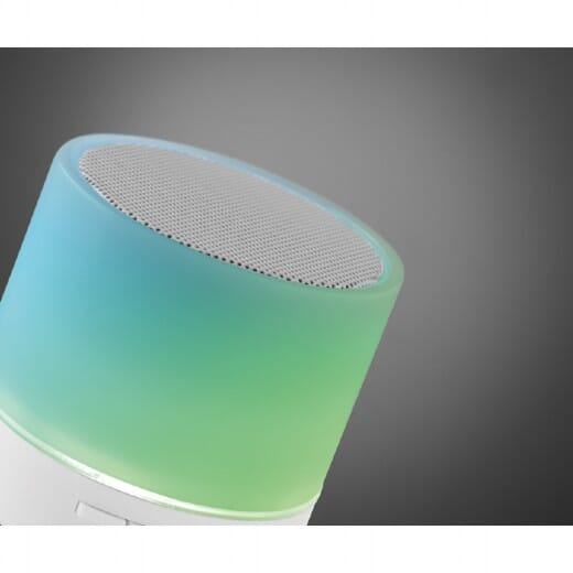 Speaker Bluetooth con LED  ROUND WHITE - 6