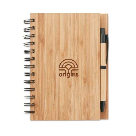 Notebook in bamboo con penna BAMBLOC - 1