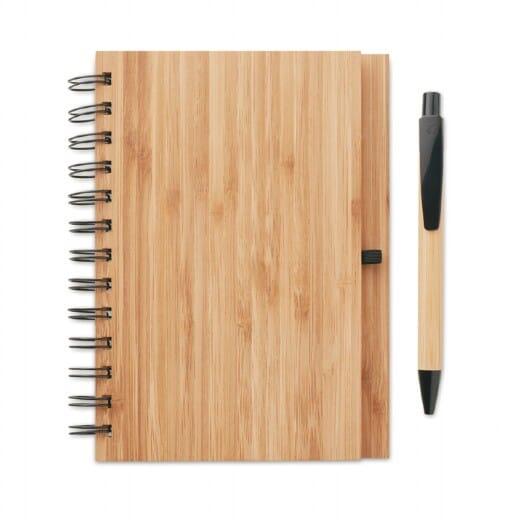 Notebook in bamboo con penna BAMBLOC - 2