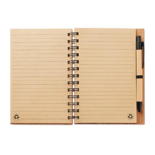 Notebook in bamboo con penna BAMBLOC - 3