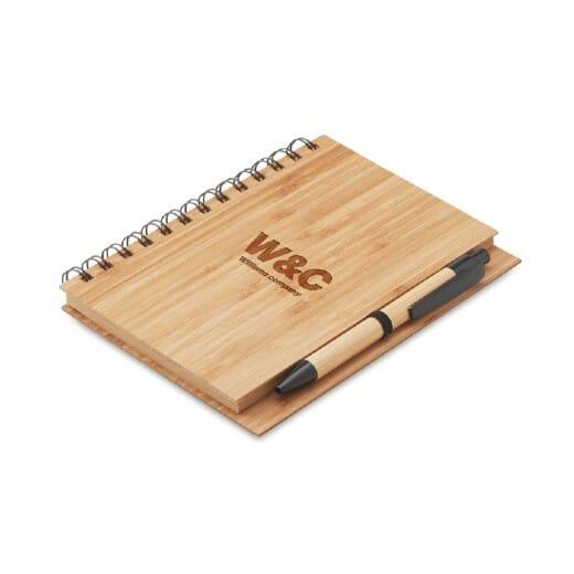 Notebook in bamboo con penna BAMBLOC - 4