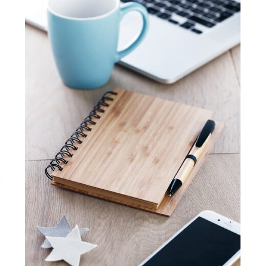 Notebook in bamboo con penna BAMBLOC - 5