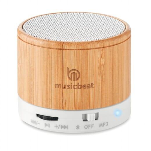 Speaker bluetooth in bamboo ROUND BAMBOO - 1