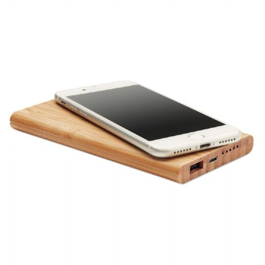 Power bank wireless in bamboo ARENA - 2