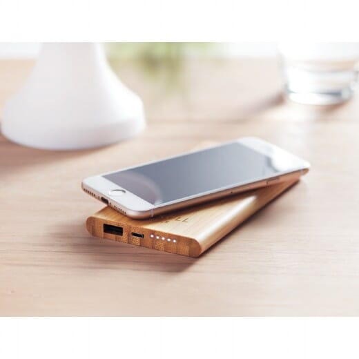 Power bank wireless in bamboo ARENA - 7