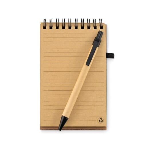 Notebook A6 in carta riciclata SONORACORK - 1