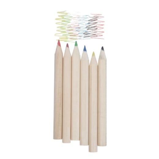 Set di 6 matite colorate KITTY - 1