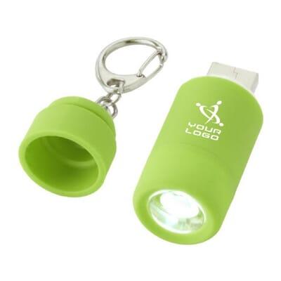 Portachiavi con torcia ricaricabile tramite USB AVIOR