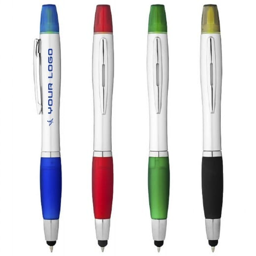 Penna touch screen con evidenziatore NASHIN