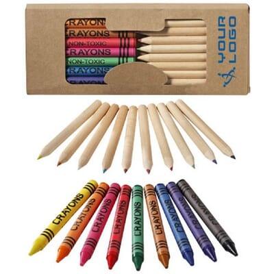 Set di matite e pastelli a cera da 19 pezzi LUCKY