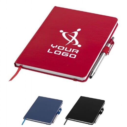 Notebook A5 e penna a sfera con pennino CROWN