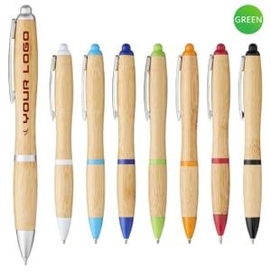 Penna pubblicitaria in bambù NASH