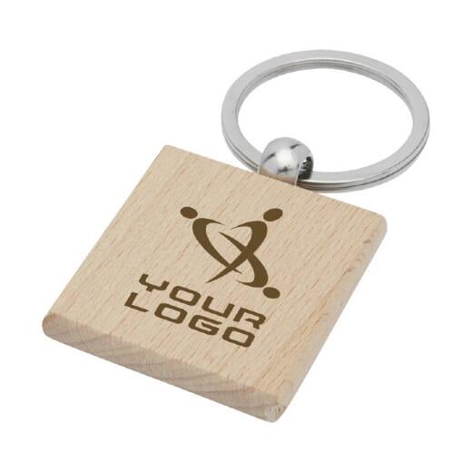 Portachiavi quadrato in legno di faggio GIOIA