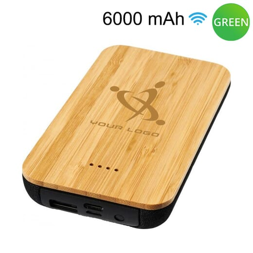 Power bank wireless in bambù FUTURE