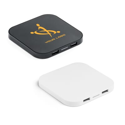 CAROLINE. Caricatore wireless e hub USB 20