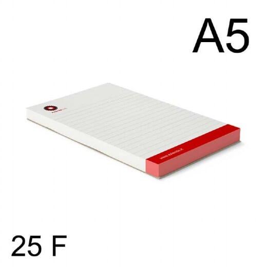 Block notes A5 con 25 fogli