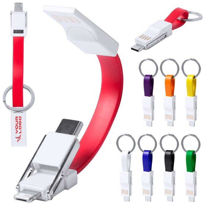 Portachiavi con cavetti USB Hedul
