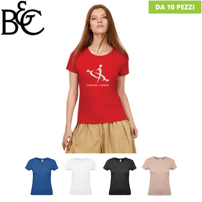 T-shirt in cotone B&C WOMEN BASIC