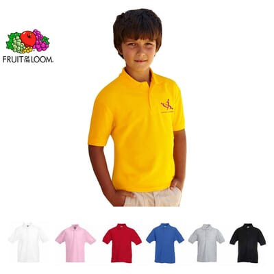 Polo personalizzata Fruit of The Loom KIDS