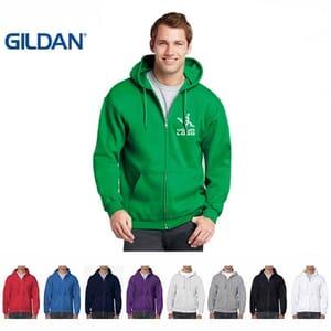 Felpa da uomo con cappuccio e zip Gildan Heavy Blend