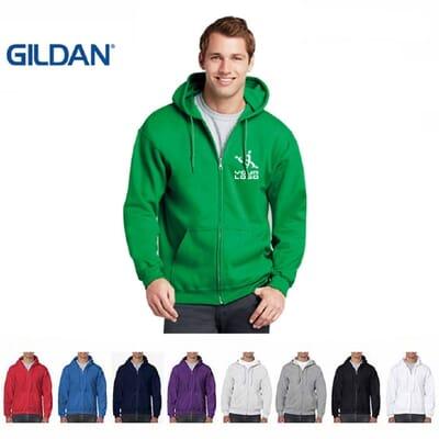 Felpa con cappuccio e zip Gildan Heavy Blend
