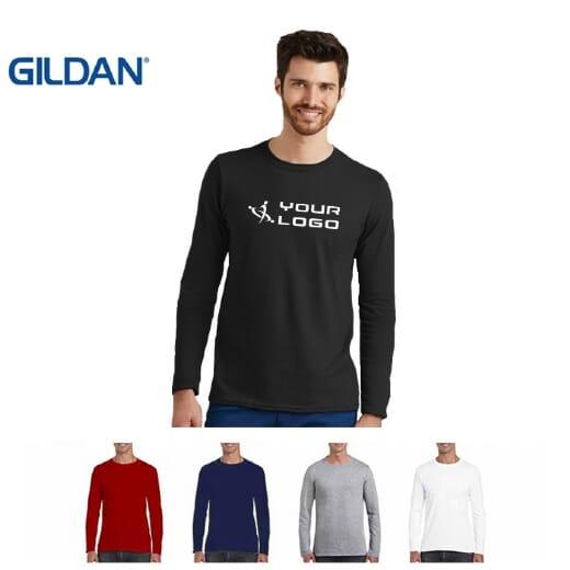 Magliette Gildan Soft-Style manica lunga da uomo