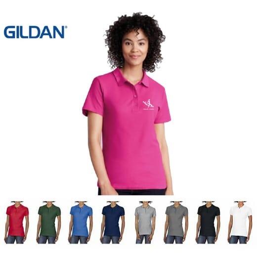 Gildan Soft Style Polo Doppio Piqué DONNA