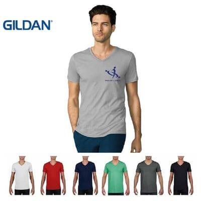 Maglietta Gildan Soft-Style da uomo collo a V