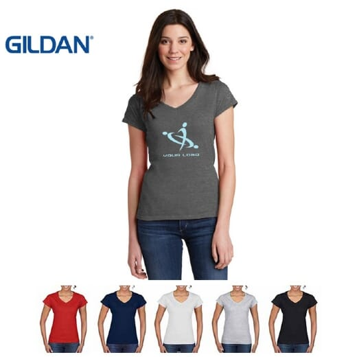 Magliette Gildan collo a V SOFT STYLE da donna