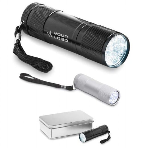 Torcia LED confezione latta  LED PLUS