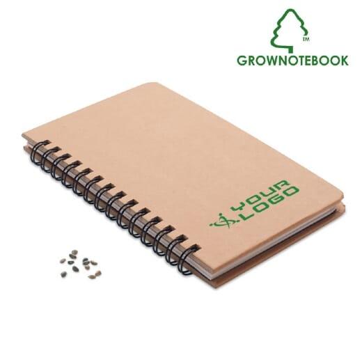 Notebook in legno di pino GROWNOTEBOOK