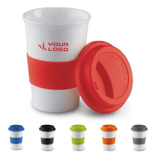 Tazza in ceramica e silicone TRIBECA - 400 ml