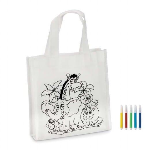 Mini borsa shopper da colorare SHOOPIE
