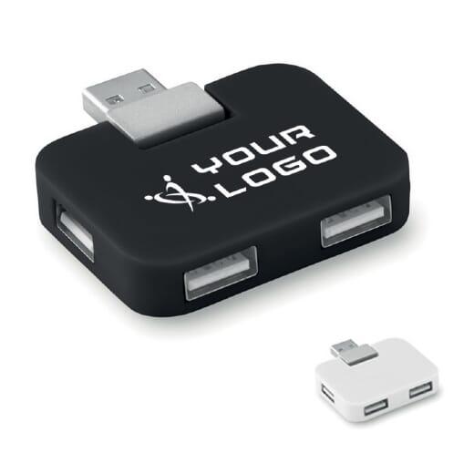 Multi presa per 4 USB SQUARE