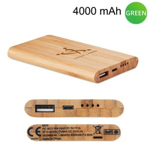 Power bank in bamboo ARENAPOWER