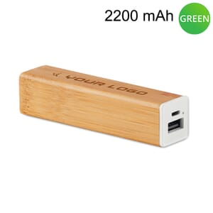 Power bank in bamboo POWERBAM