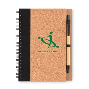 Notebook in carta riciclata SONORA PLUSCORK