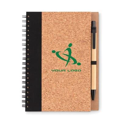 Notebook in carta riciclata SONORA PLUSCORK