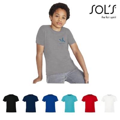 Magliette da bambino girocollo REGENT FIT