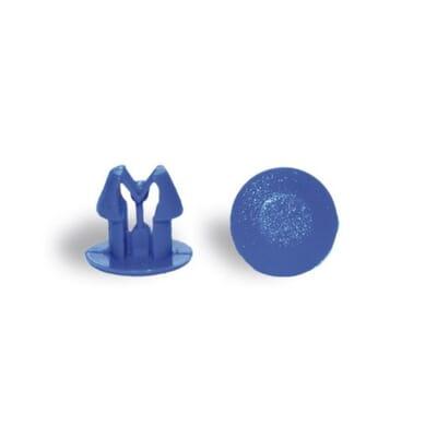 Bottone per fissaggio blu